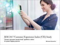 Les marques à la défensive : Etude 2017 Customer Experience Index – IBM