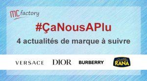 Marques Versace Dior Burberry Rana