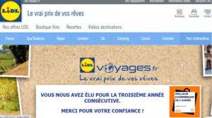 Lidl Voyages e-commerçant